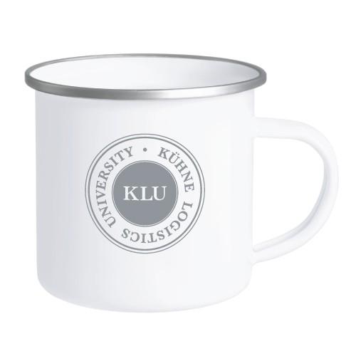 enamelled cup