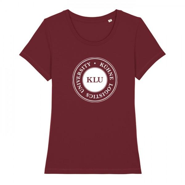t-shirt women burgundy